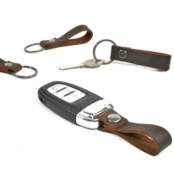 Mini llavero Holder Bag Real piel de vaca cuero genuino llavero bolsillo fundas para las llaves del coche bolsa mujeres hombres regalo hecho a mano 2019 nuevo