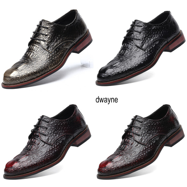 british style men's genuine leather crocodile shoes classic business casual shoes fashion handmade dress flats shoes oxfords jkm
