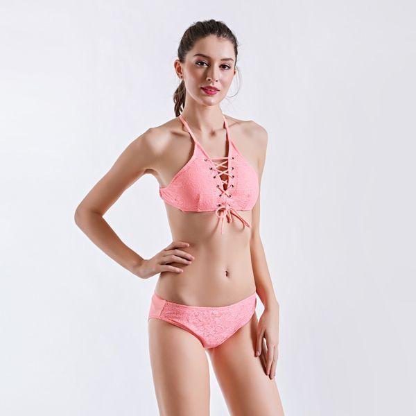 d43443ed6b High elastic Sexy backless straps Swimsuits of Women Swimwear Tankini Bra+Shorts  2019 Two-