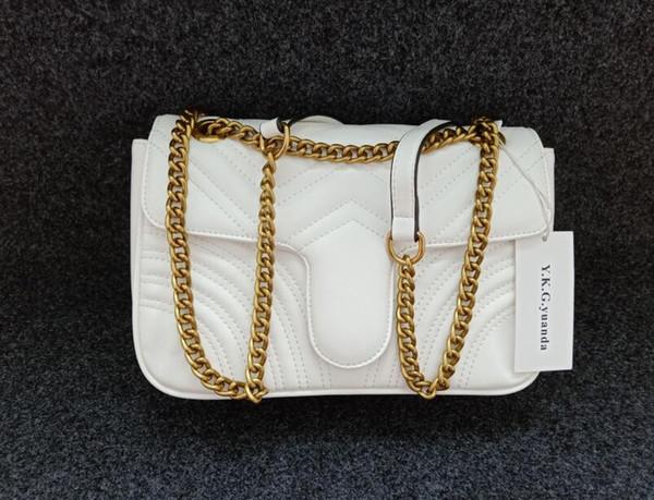 Beyaz ve altın zincir 26cm