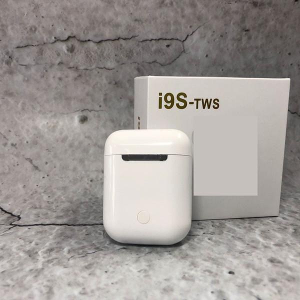 I9S TWS drahtloser Bluetooth paart Ohrhörer-Kopfhörer-aufladenkasten für iphone XS MAX GALAXY intelligentes Telefon 1pcs / lot