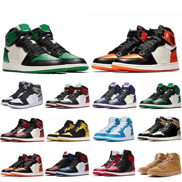 Wholesale New 1 1s Mens Basketball Shoes Not For Resale Red Yellow paris saint german Top 3 UNC Designer Sport Sneakers EUR 40-47