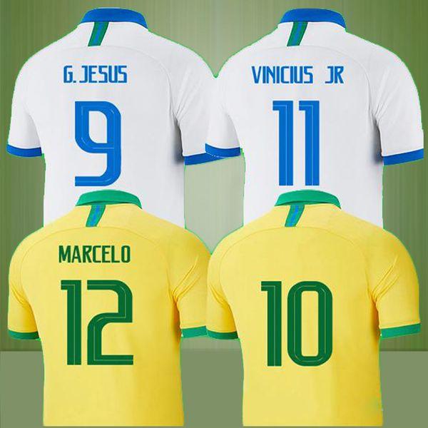Новый Таиланд Бразилия футбол Джерси Camisa de Futebol Copa America 2019 2020 Бразилия Camiseta де футбол COUTINHO VINICIUS футболка из джерси