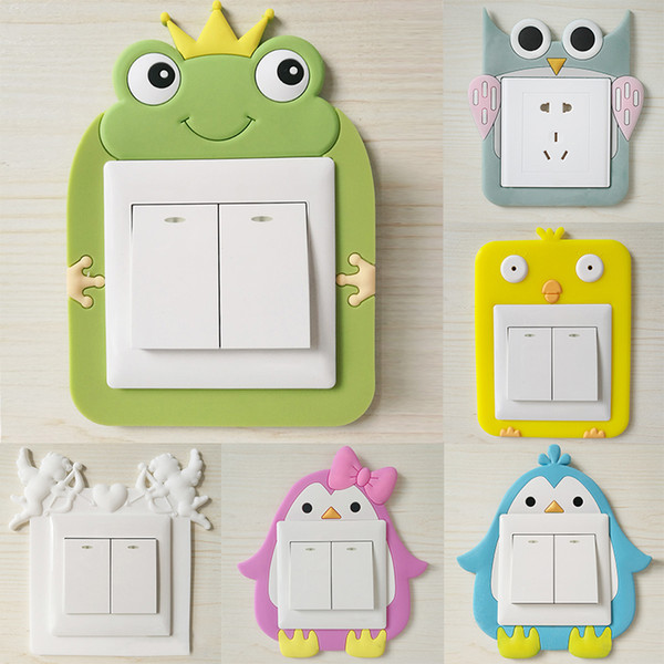 Creative Power Socket Stickers Luminous Silicone Home Decoration Cartoon Waterproof Cute Switch Stickers Wall Stickers