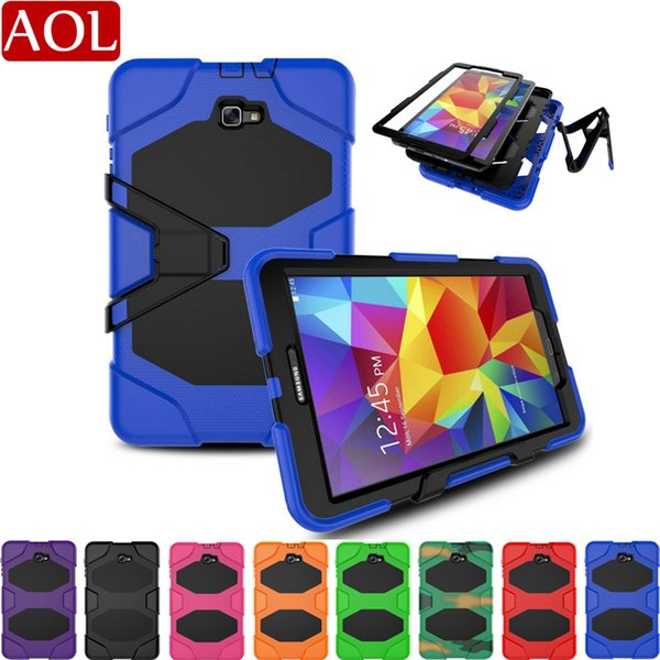 """For Samsung GALAXY Tab A 10.1"""" T580 P580 T510 10.5 T590 Armor Case Shock Drop-Proof Hybrid Impact Military Defender Protective Cover"""
