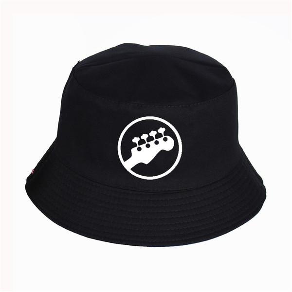 sombrero de pescador hatWomen hombres de música de la guitarra impresión del modelo de cubo sombreros de verano de alta calidad pescador Snapback