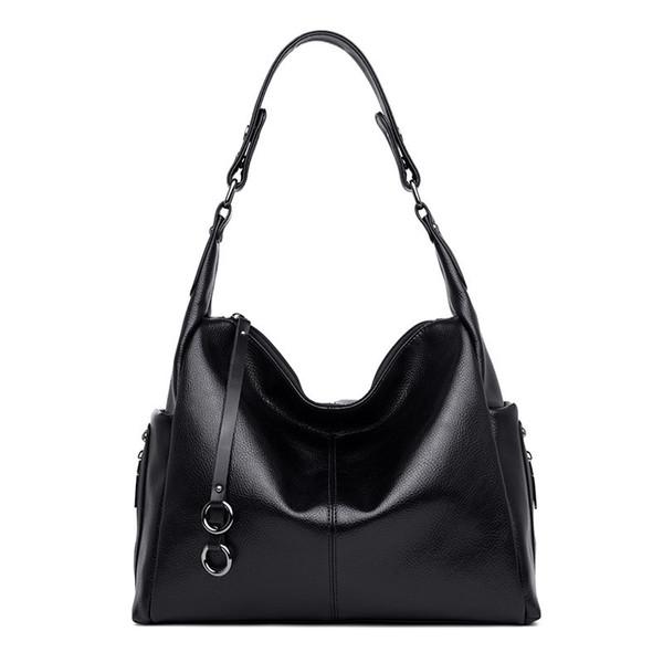 2019 nuevas mujeres de la moda bolsos de cuero de alta calidad suave gran capacidad bolsas de asas para mujeres bolsa de hombro de las señoras bolsos de mano