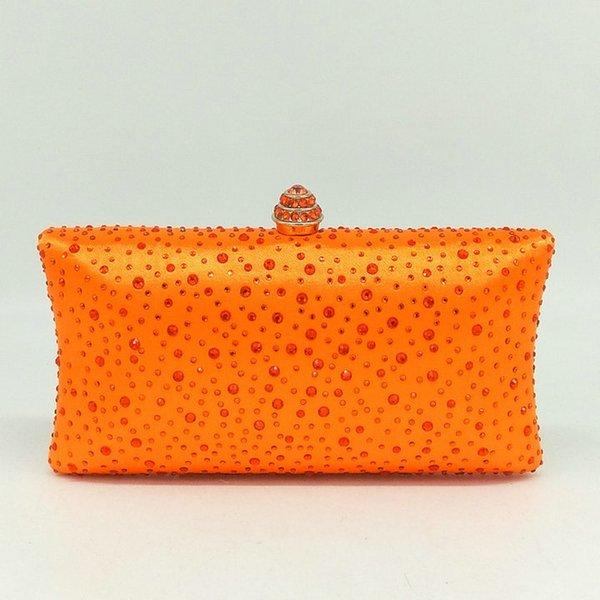 Orange Crystal Bag