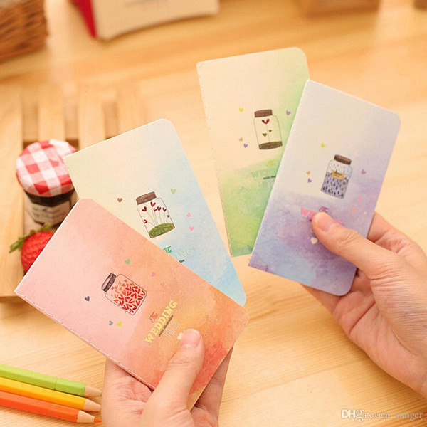 Wholesale- 2017 Mini Cute Kawaii Journal Diary Notebook With Lined Paper Vintage Retro Notepad Book for Kids Korean Stationery 1 PC