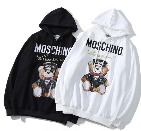 2019 Tasarımcı hoodie sonbahar ve kış moda harflerin baskılı baskılı erkekler ve kadınlar uzun kollu gömlek severler sokak hip hop ceket toptan