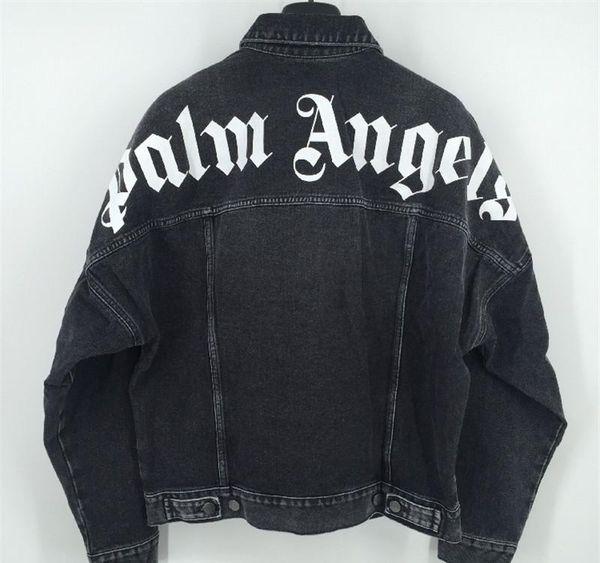 New Style TOP Palm Angels Denim Jacket Pop Women Men Palm Angels Outerwear Coats Palm Angels Jackets