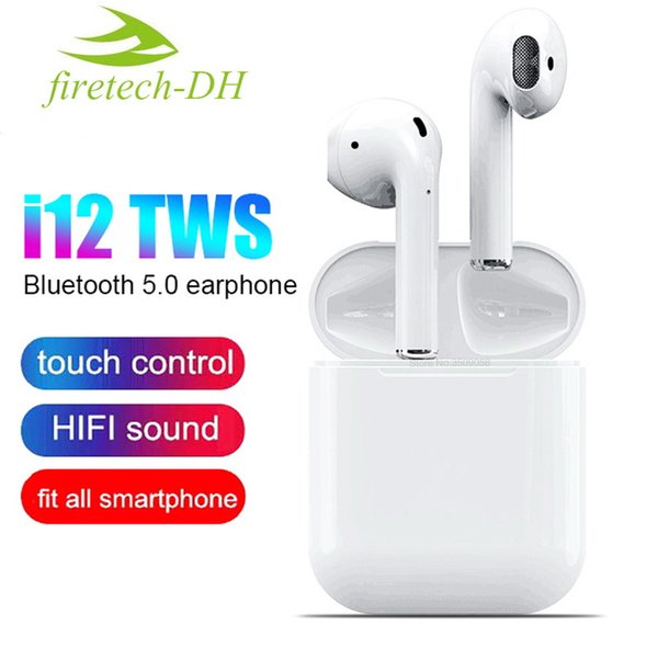 1 PCS 2019 I12 TWS Bluetooth Earphone Wireless Earphones Touch Control Headset 3D Stereo Earbuds Charging Case I 12 I10 Tws