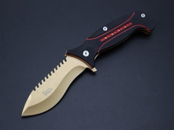 TODD BEGG Wolverin Titanium D2 G10 Tactical Hunting Knife Multi Tools Pocket Survival Knives camping hunting folding knife 1pcs