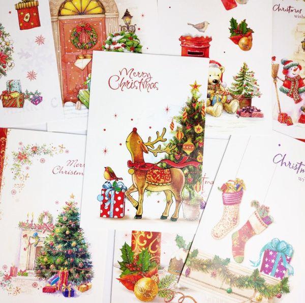 Acquista 2019 Cartolina D Auguri Di Auguri Di Natale Romantico Cartolina D Auguri Di Benedizione Cartolina Di Auguri Di Buon Anno Cartolina Di Natale