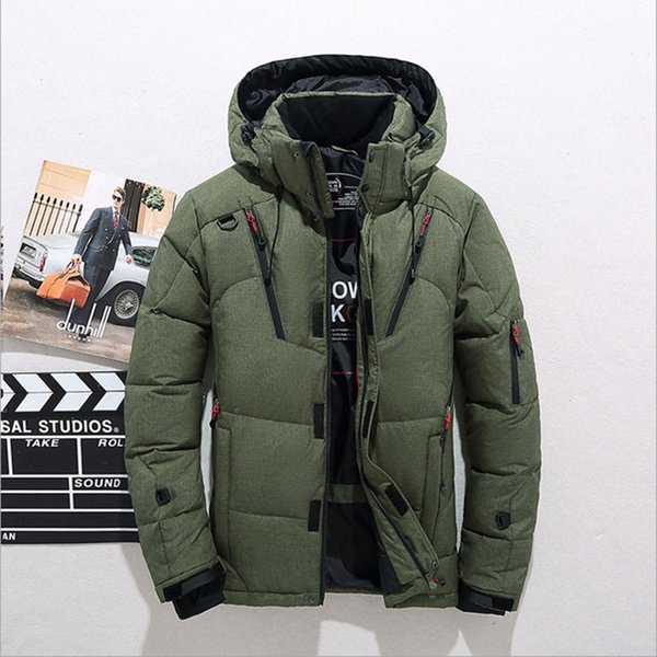 2019 Winter Duck Down Jacket Men New Fashion Fur Collar Jacket Men Thick Warm Mens White Duck Down Coat Jaqueta Masculina SH190930