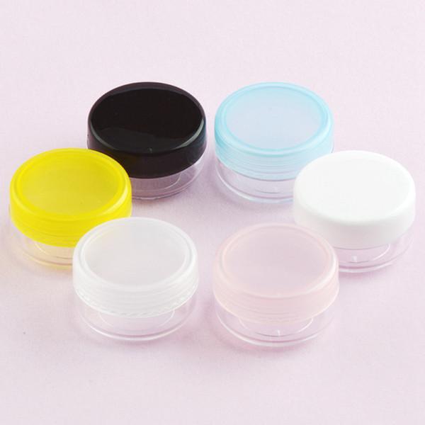 Plastik Boş Makyaj Kavanoz Pot Kadınlar Taşınabilir Seyahat Yüz Kremi Losyon Kozmetik Konteyner Için Kremler Cilt Bakım Ürünleri Makyaj Aracı RRA1349
