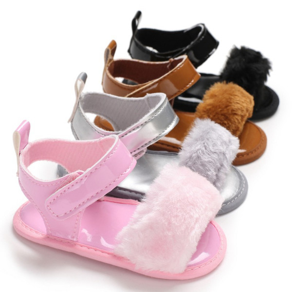 Sandalias de piel de bebé Zapatos de bebé sandalias infantiles lindas sandalias de verano Princesa antideslizante zapatos de cuna para niña niños sandalia