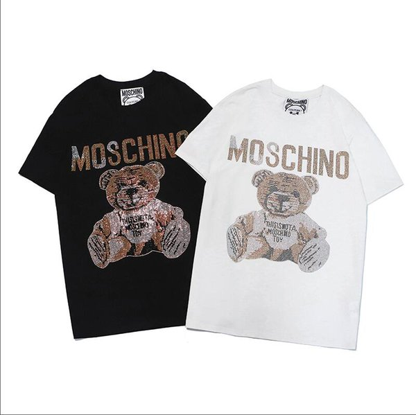 Summer Brand T Shirts for Men Women Famous T-shirt with Letters Fashion Short Sleeve Women Tops Tee Mens Designer Clothing 2 Colors S-2XL.