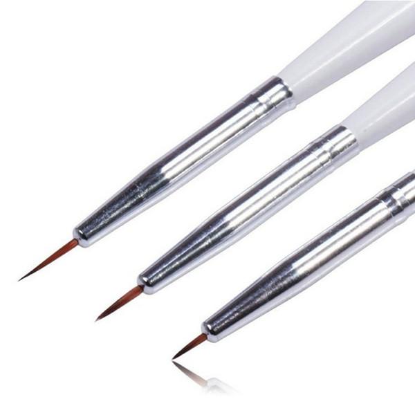 pen brush tools Beau Gel 3Pcs Stunning Acrylic French Nail Art Liner Painting Drawing Pen Brush Tool Set Manicure Nail Drawing Kit