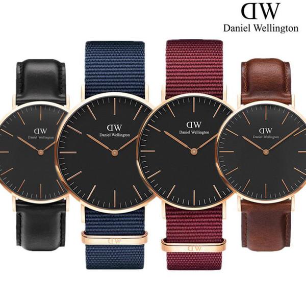 New Mens womens Daniel Wellington watches 40mm Men watches 36 Women Watches DW Quartz Watch Female Clock Relogio Montre Femme
