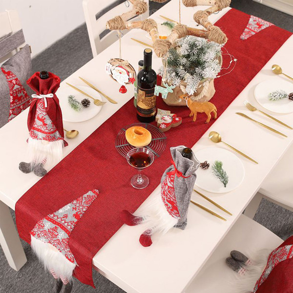 New Christmas Decorations Rudolph S Table Flag Creative Three Dimensional Santa Claus Pattern Table Decorative Tablecloth And Mat Big Outdoor
