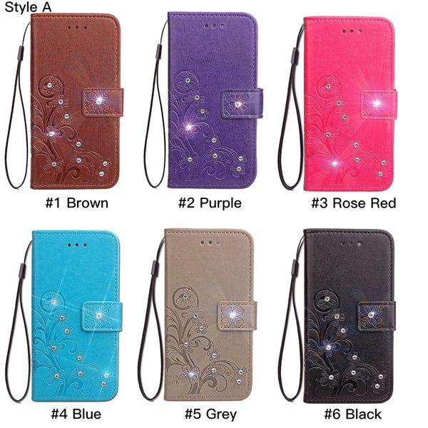 Für samsung note 9 8 s8 s9 s6 s7 edge für iphone xr xs max x 8 7 6 plus handgemachte dekoration geprägte vierblättrige kleeblatt brieftasche telefon case