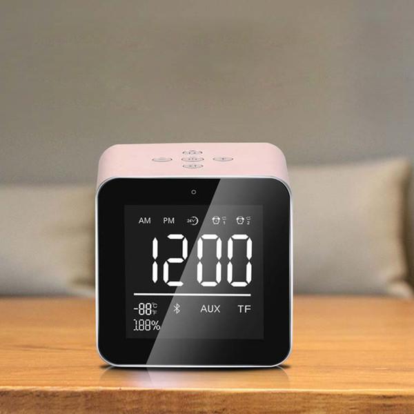 LED Table Alarm Clock Radio FM Altoparlante portatile Bluetooth Plug in Memory Card Alarm Clock Smartphone compatibile per trucco audio V9