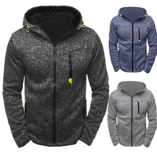Hommes Sports Casual Wear Zipper Sweat Tide Jacquard Hoodies Veste Polaire Sweat Automne Sweat À Capuche Printemps Sweat À Capuche Homme Cardigan Sweat-Shirt