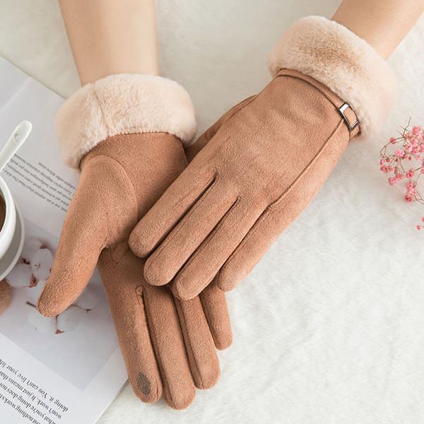 Womens Winter Warm Gloves Wrist Mittens Driving Ski