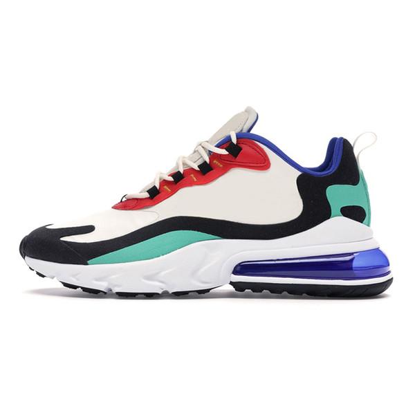 2020 Nuovo nero tripla Reagire uomini donne scarpe casuali Reggae Royal Blue Bauhuas destro Violet ottici sneakers mens allenatori sportivi in corso