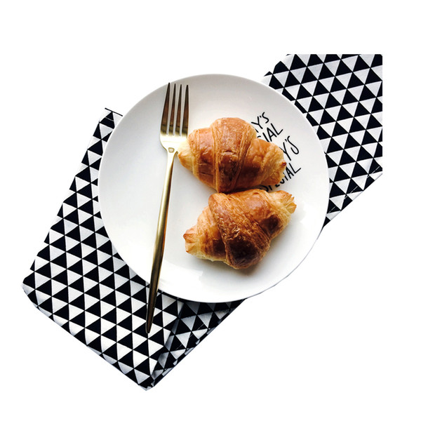 5pcs Pure cotton food shooting background cloth, napkin cloth, european style western table mat, tea towel, small tablecloth