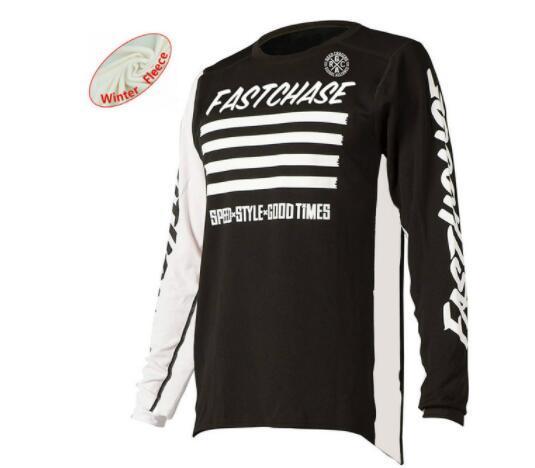 Thermal fWinter Fleece Motocross Jersey Downhil Mountain Bike DH Hemd MX Motorrad-Bekleidung Off Road Dirt Bike MTB Trikots