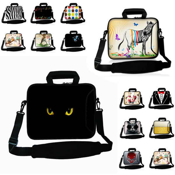 Duo Zipper Laptop Carry Bag 10/12/13/14/15/17 inch Notebook Messenger Briefcase Computer Accessories Netbook Case Shoulder Strap