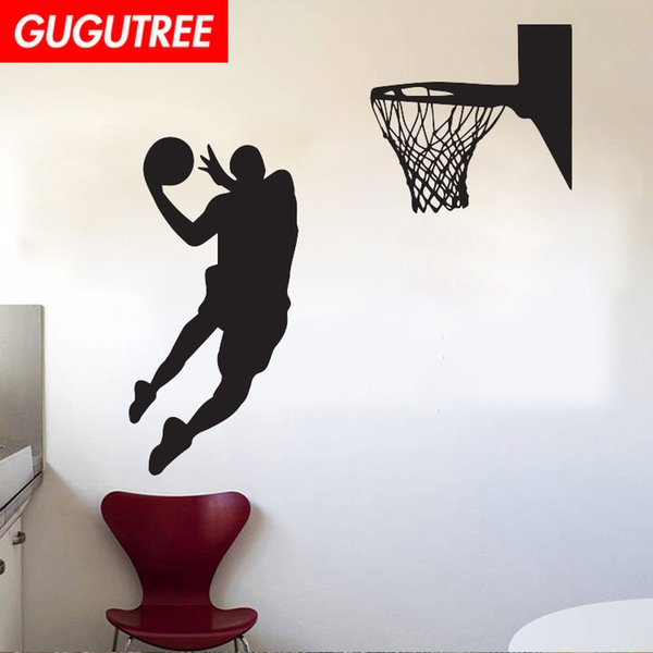 Decorate Home basketball cartoon art wall sticker decoration Decals mural painting Removable Decor Wallpaper G-1910
