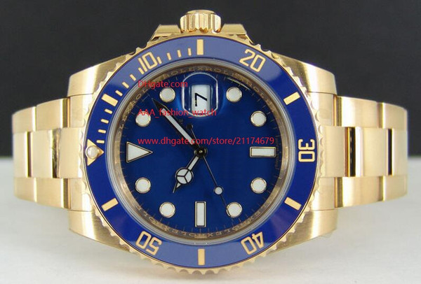 Factory Supplier Luxury AAA 40mm Model 116618 Ceramic Bezel Blue Dial Automatic Mechanical 2813 movement Mens Watch Men's Watches