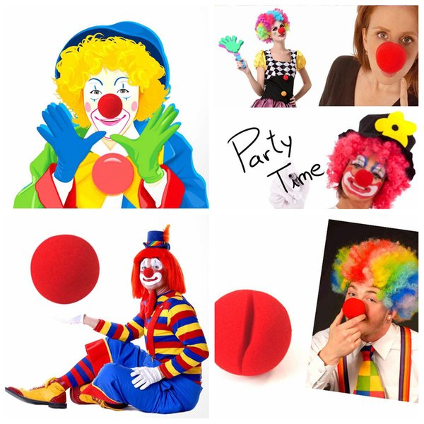 Magic Red Sponge Balls Clip Foam Clown Naso Costume Party Fancy Dress Cosplay Comic Halloween Christmas Party forniture per bambini