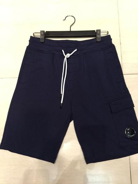 best selling 2019 SS One glasses CP shorts cotton men short pants casual jogging shorts men CP pants size M-XXL