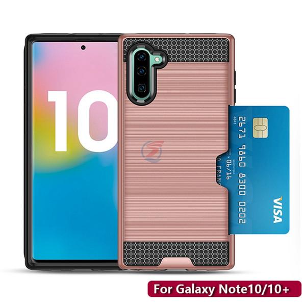 Slot para cartão armadura phone case para samsung galaxy note10 nota 10 s10 s9 s8 além de Note8 Note9 A20 A30 A50 A80 A90 LG V50 V40 V30 CASO de COBERTURA