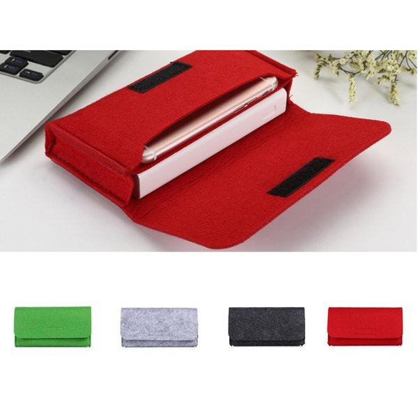 Fashion Power Bank Storage Bag Travel Digital Products Gadgets Organizer Felt Pouch for Phone Charger Electronics