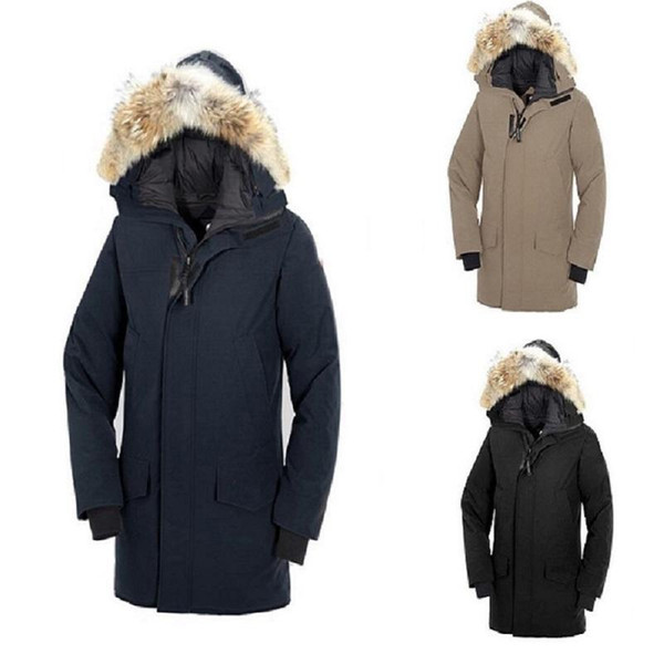 2019 Winter Fourrure Down Parka Homme Jassen Chaquetas Outerwear Big Fur Hooded Fourrure Manteau Canada Down Jacket Coat Hiver Doudoune From Haipi007,