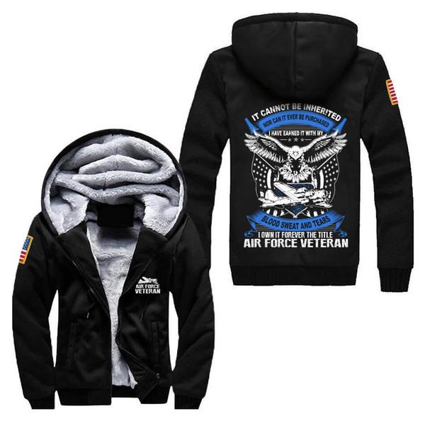 2018 fashion men's hoodies 3D printed jacket winter wool lining thick coat warm sportswear streetwear