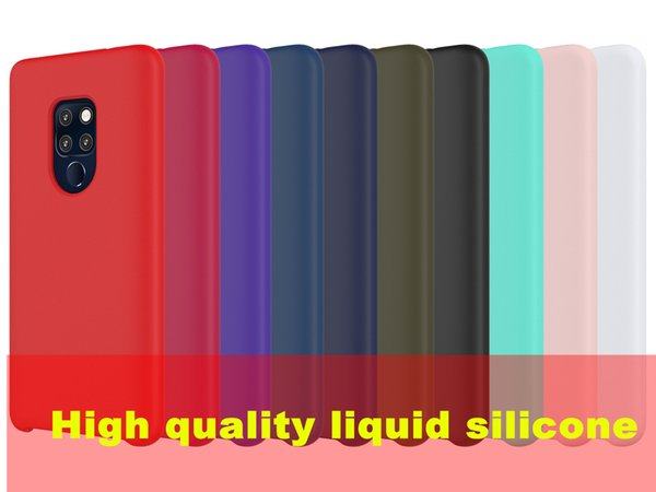 High Quality Lquid Silicone Case For HUAWEI P30 MATE 20 LITE PRO Y6 2018 Y9 2019 Nova 4 3 Honor V20 10 8C P Smart Plus Oil Can Be Wiped