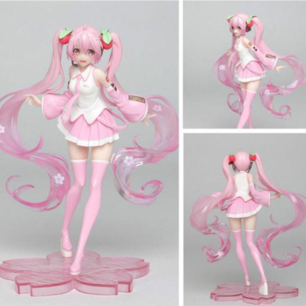 18cm Cherry Blossoms Hatsune Miku Future japonais Anime Figures d'action Toy Figure Sexy Modèle cadeau de Noël
