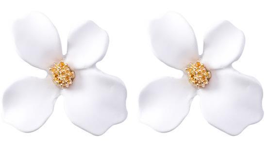 Douces, fraîches et simples, fleurs de laque cuites au four, oreilles à la mode, personnalité avec pétales irréguliers