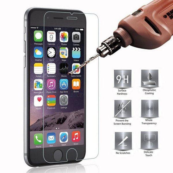 2.5D 9H Screen Protector Tempered Glass For iPhone 6 6S 5S 7 8 plus SE 4S 5 5C XR XS Max Toughened Glas For iPhone 7 6 6S Flim Protect Glass