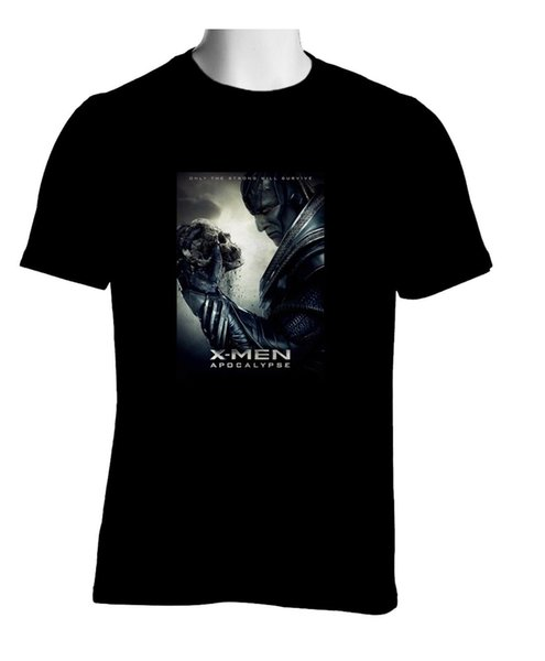 X-Men Apocalypse Box Office Movie Black T-shirt Tees Custom Jersey t shirt hoodie hip hop t-shirt jacket croatia leather tshirt