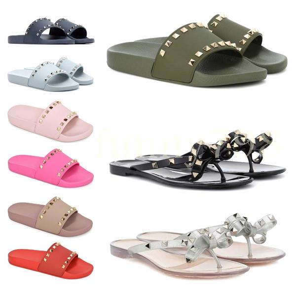 2019 new designer sandals and slippers fashion comfortable casual slippers flat candy color chaussures Shoes Women flip flop