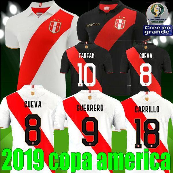 New Copa America 2019 Peru Fußball Trikot 19 20 Peruana Heim Auswärts Trikot Peru 2020 GUERRERO CUEVA FLORES RUIDIAZ FARFAN Fußball Trikot Trikot