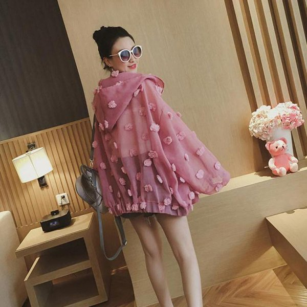 2019 Arrival Sunscreen Clothing Female Korean Style Loose Eugen Yarn Thin Jacket Fashion Summer Coats Free Shipping C19041601