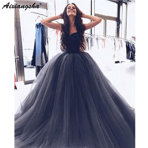 Compre Precioso Vestido De Gala Vestido De Noche Gris Tul Vestidos De Baile Largas 2019 Bata Velada De Dubai Amor Que Rebordea A 17654 Del